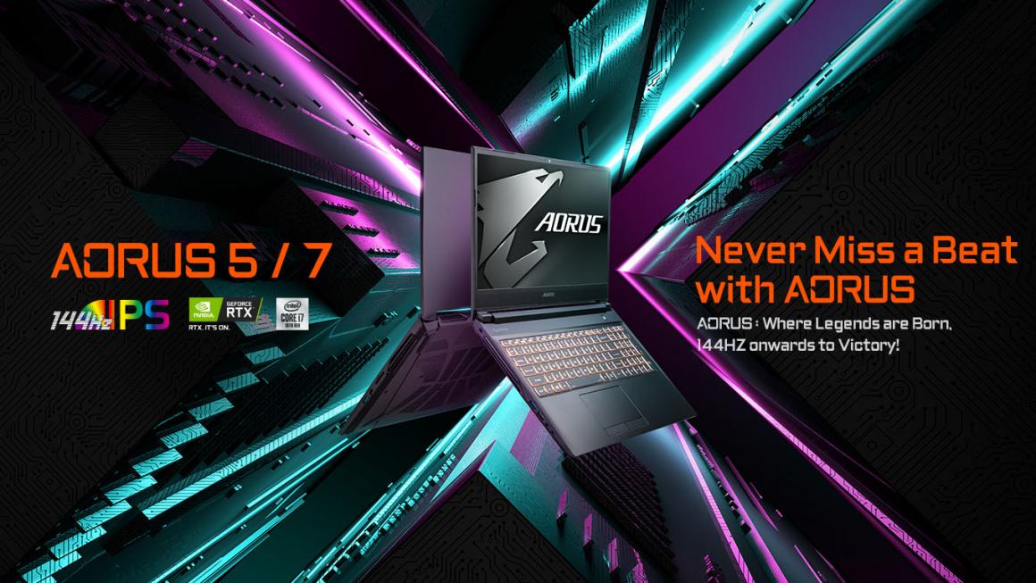 GIGABYTE introduceert AORUS pro-gaming laptops met een wereldklasse koelsysteem