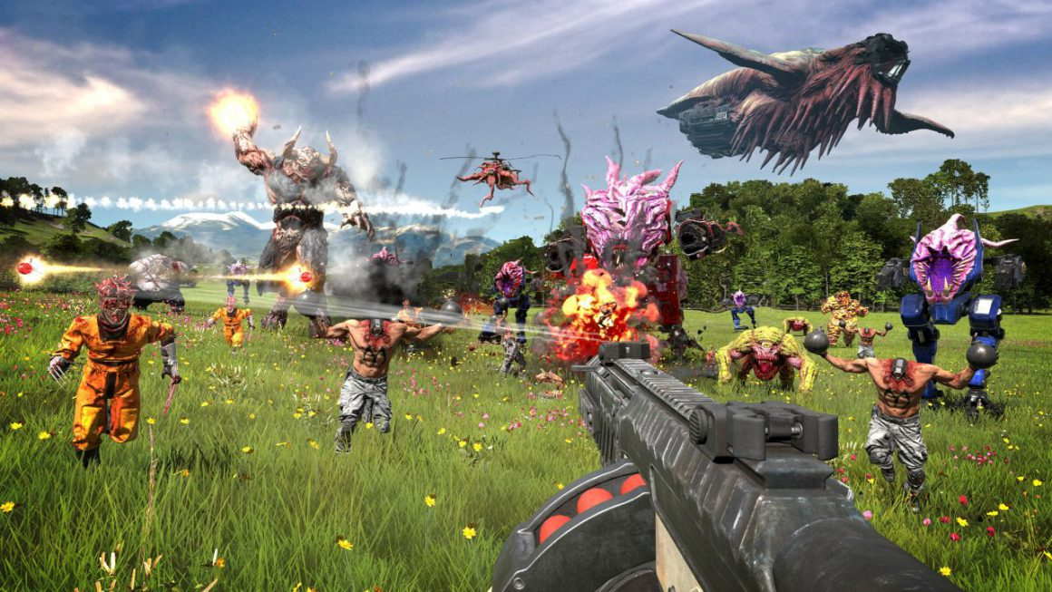Totale chaos in trailer Serious Sam 4