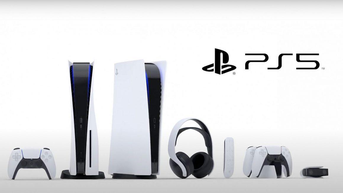 PlayStation 5 en DualSense controller zitten vol met gedrukte symbolen