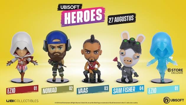 Ubicollectibles introduceert gloednieuwe reeks Chibi Figurines: Ubisoft Heroes
