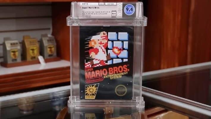 Eerste Mario Bros. game geveild voor 114.000 Dollar