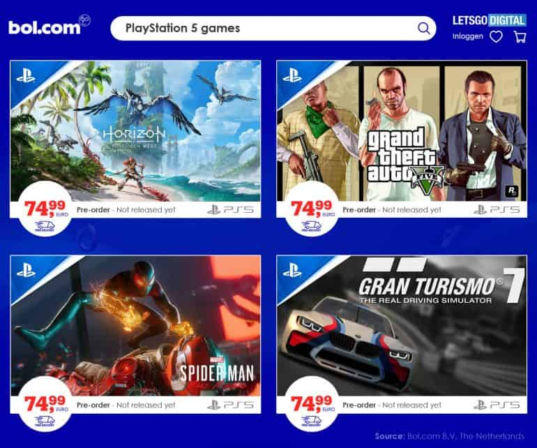 PlayStation 5 games nu al 25% duurder bij grootste Nederlandse retailer