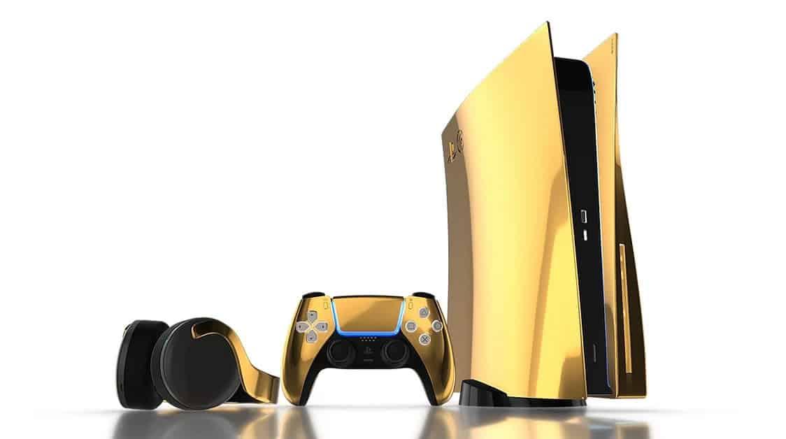 Gouden PlayStation 5 in de maak