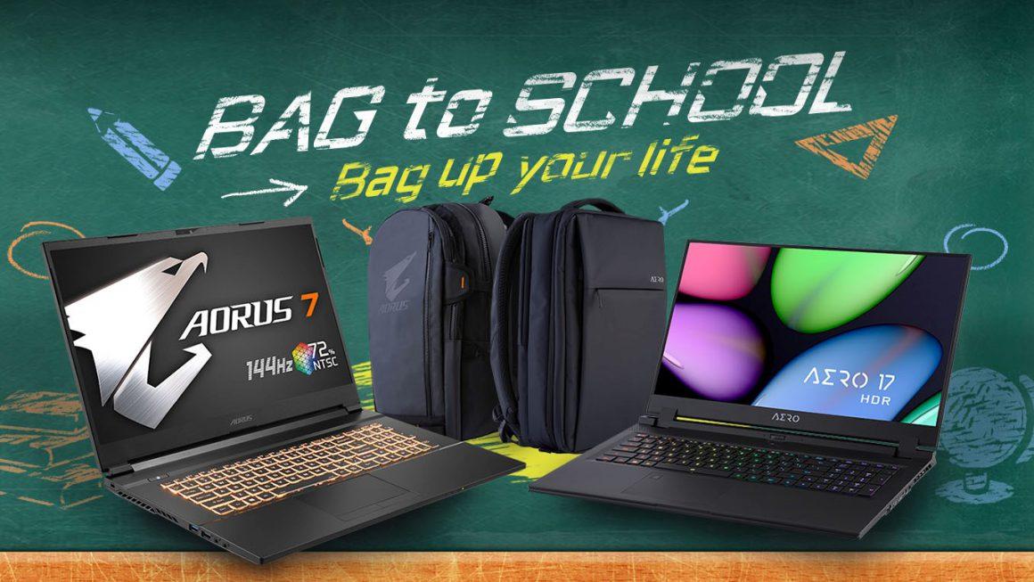 Hoge kortingen en gratis rugzak bij Gigabyte Back to School-actie