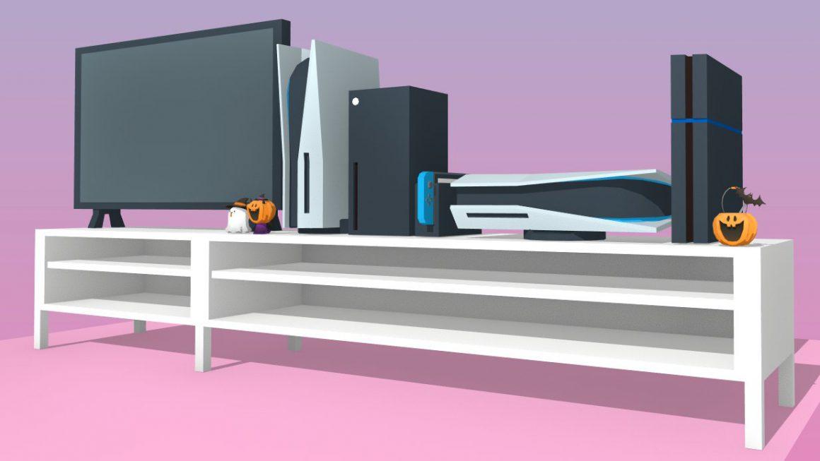 Hoe zien de PS5 en Xbox Series console er uit op je TV-meubel?