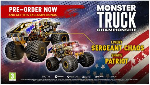 Monster Truck Championshop: Deluxe edition en pre-order-bonus