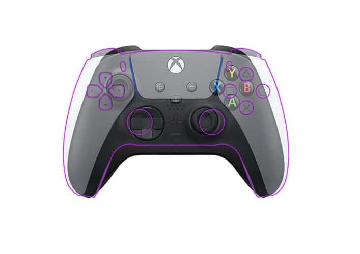 PS5- en Xbox Series-controller over elkaar gezet en vergeleken