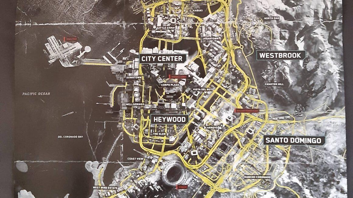 De world map van Cyberpunk 2077 onthuld