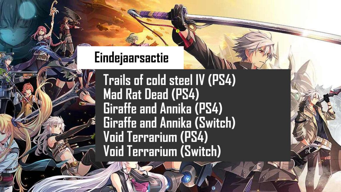 Eindejaarsactie: Win 4 games voor de PS4 en 2 games voor de Switch van NIS America