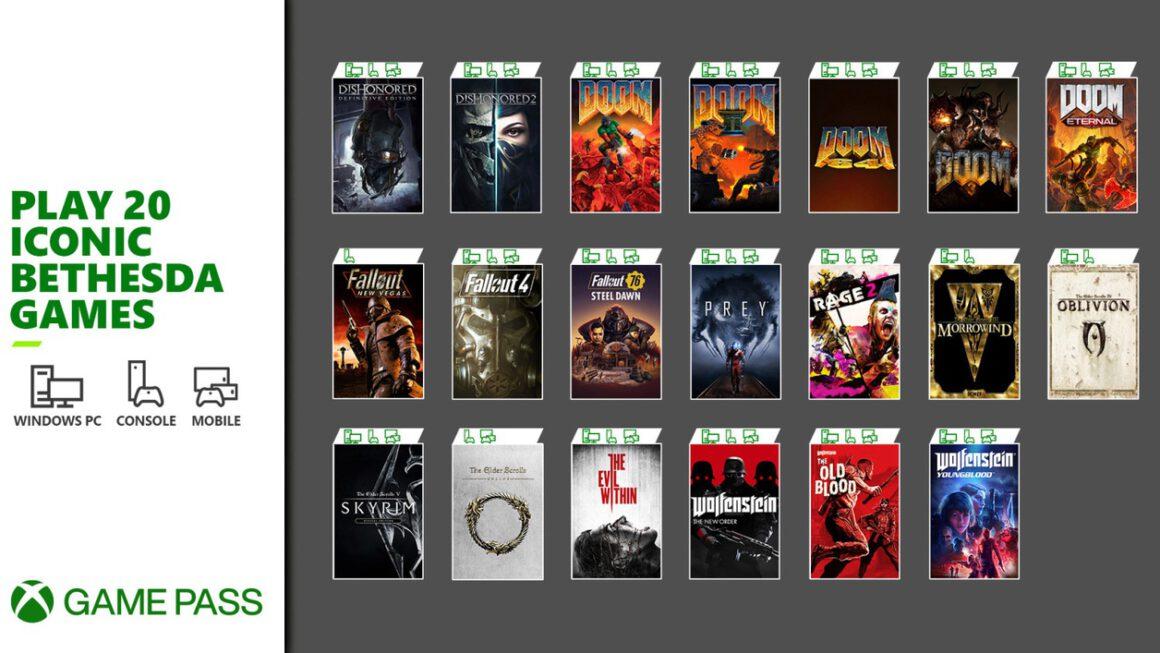 Twintig games van Bethesda naar de Game Pass