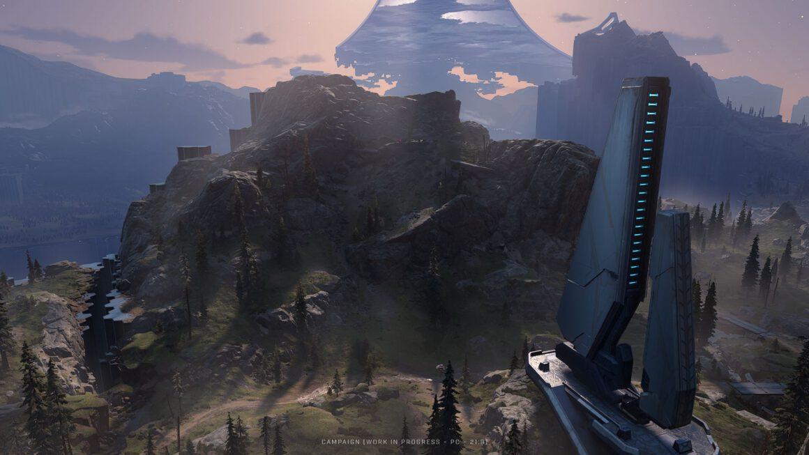 Viertal beelden van Halo Infinite