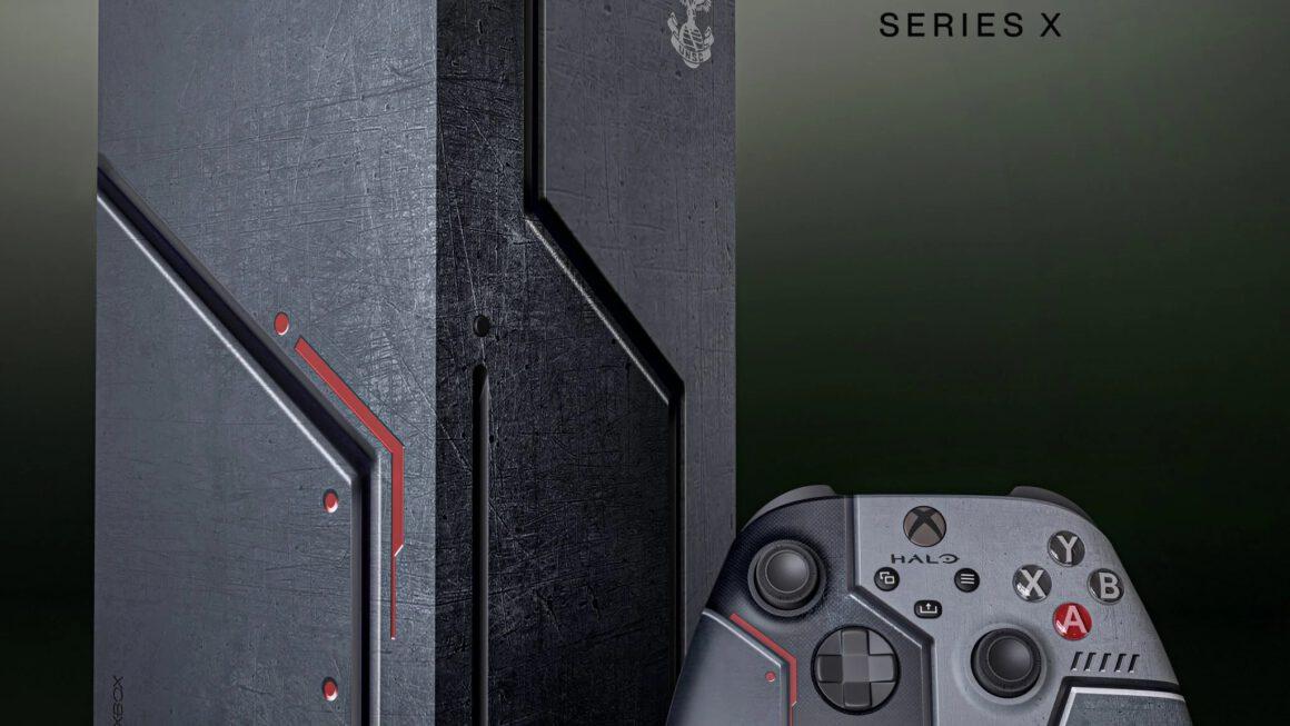 Supervette Xbox Series X in de stijl van Halo ontworpen