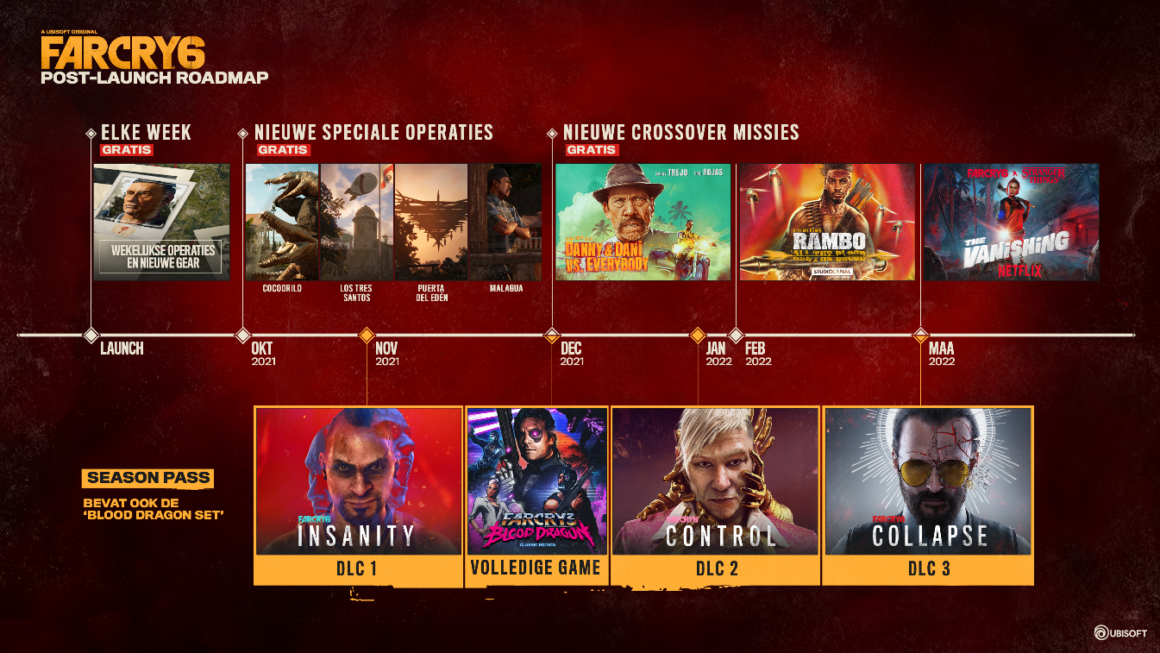 Far Cry 6 onthult details post-launch contentplan